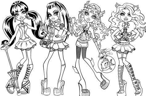 Kolorowanki Monster High Do Wydruku I Pomalowania Dla Dzieci High Characters Coloring Pages