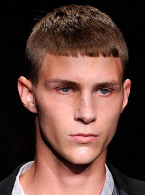men short hair model chic model men hairstyle in very short length haircut png