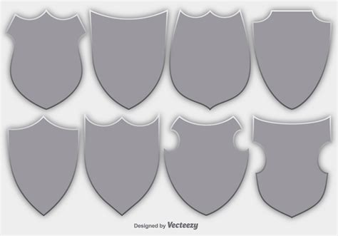 emblem vector vector set of shields security emblems free