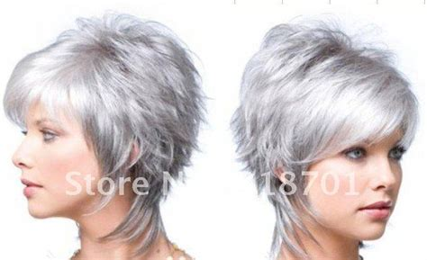 pelo gris corto 2016 aliexpress com buy stylish short silver grey hair women