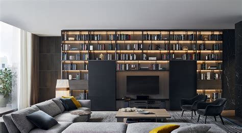 poliform librerie librerie libreria wall system di poliform day systems