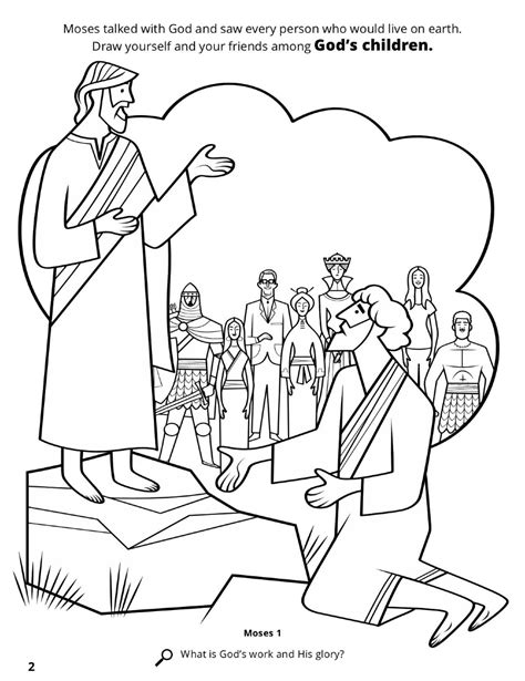 coloring book printing costs moses beheld the earth
