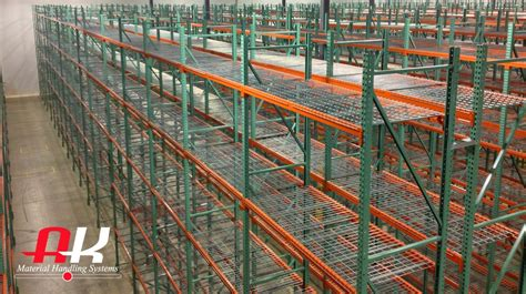 wire decking for pallet racks pallet rack wire mesh decking ak material handling systems