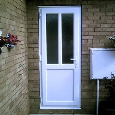 Exterior Back Door Upvc Doors Glazed Exterior Back 2xg Half Glazed Flat Panel Upvc Back Door Upvc Doors Front