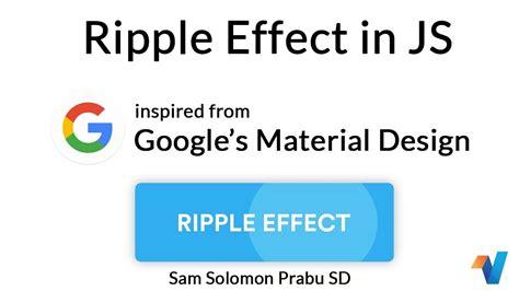 material design ripple effect javascript google ripple effect in js javascript tutorials web