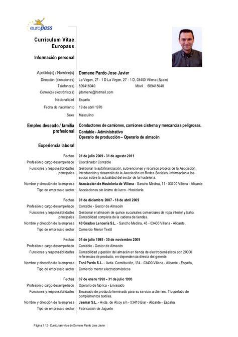 Modelo Curriculum España Descargar Curriculum Vitae Formato Para Llenar Opiniones De Todo El Zooz1 Plantillas