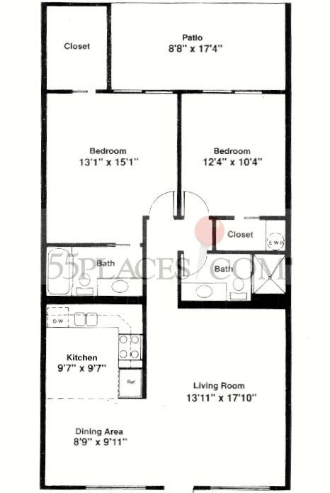 1100 sq ft house plans model e floorplan 1100 sq ft century village at