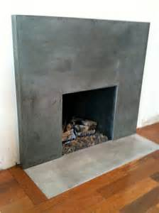 concrete fireplace for the home