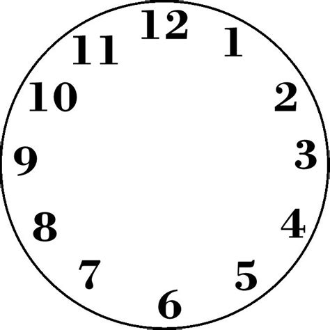 clock templates for printing the 25 best clock printable ideas on