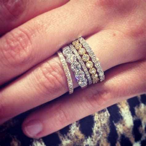 stacked rings best 25 stacking rings ideas