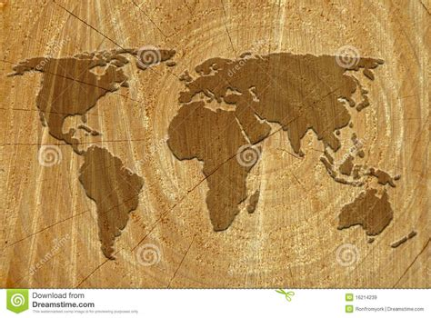 world map  wood surface royalty  stock images