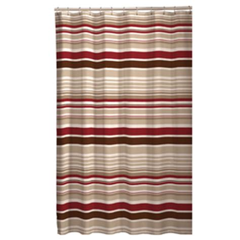 brown striped shower curtain shop meridian polyester stripe red brown striped shower