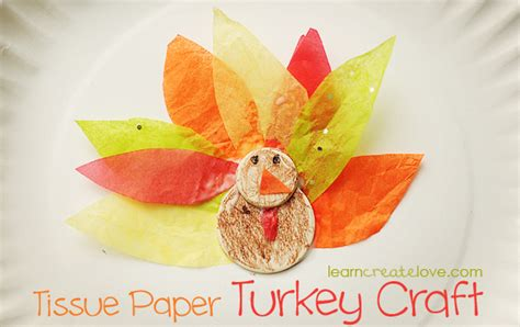 Tissue Paper Turkey Craft - tissue paper turkey craft