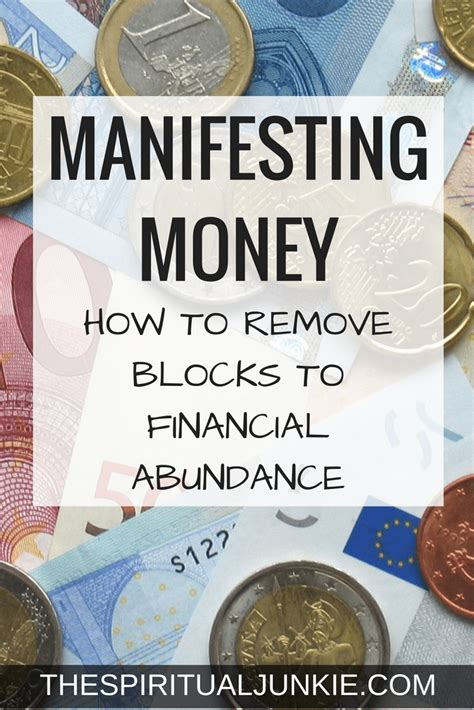 How To Attract Money how to attract money removing blocks to financial