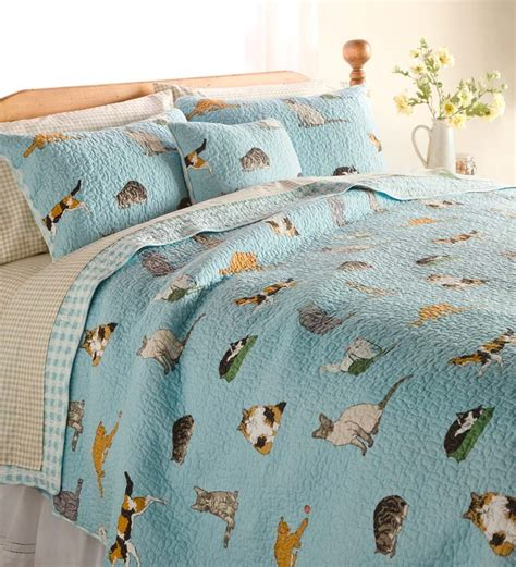 cat bedding sets twin kitten caboodle quilted bedding set collection