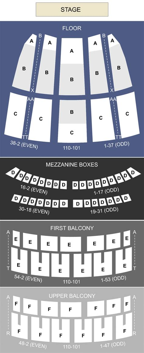 civic opera house seating civic opera house chicago il seating chart stage