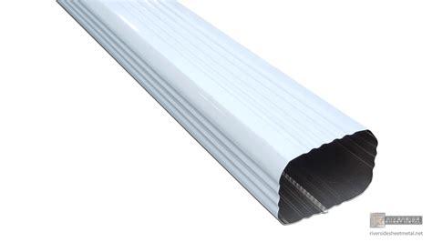 aluminum gutters corrugated aluminum or copper gutter downspout 2 quot x 3
