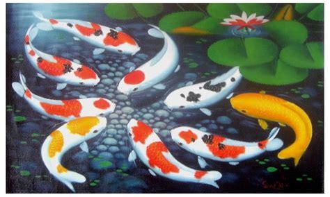 Lukisan Koi Big Myy 12 koi fish