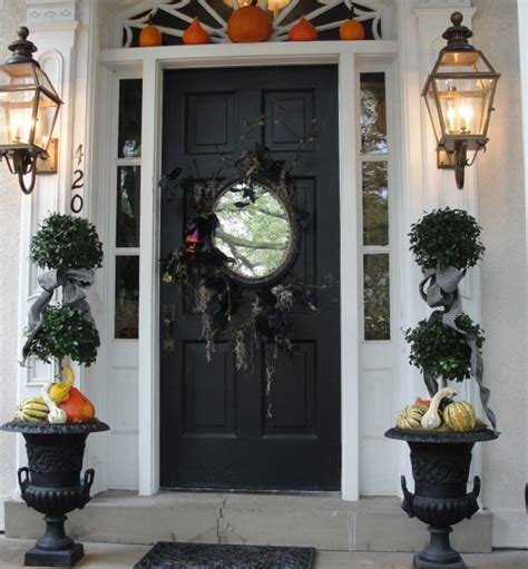 front door decor ideas halloween front door decoration ideas outdoortheme com