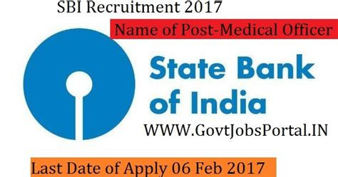 Sbi Internship For Mba 2017 by State Bank Of India Recruitment 2017 Officer Post