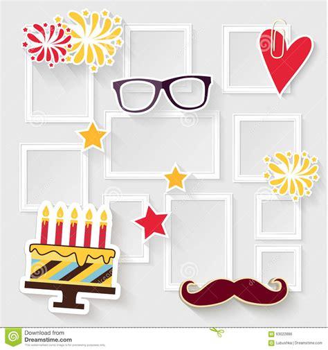 frame design for birthday birthday photo frame stock vector image 63022886