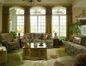 Custom window treatments side panels with short cuffs arched window