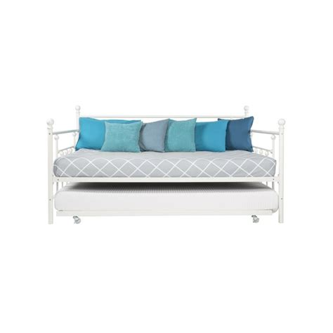 Metal Daybed With Trundle Manila Size Metal Daybed With Size Trundle In White 4024159