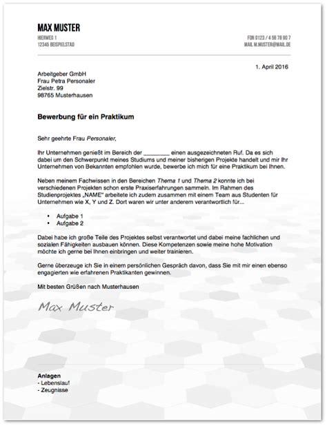 Praktikum Auswertung Vorlage Anschreiben Muster Formulierungstipps