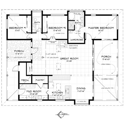 japanese house floor plans country style house plan 3 beds 2 baths 1920 sq ft plan