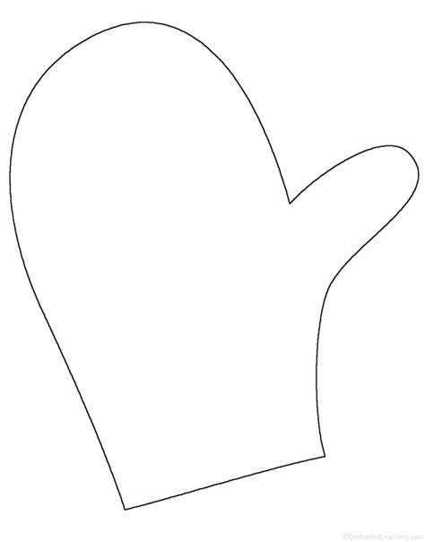 tree tracing cutting template enchantedlearning mitten tracing cutting template enchantedlearning