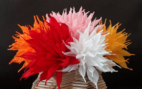 How To Make Beautiful Flowers With Paper - how to make beautiful paper flowers diy s d