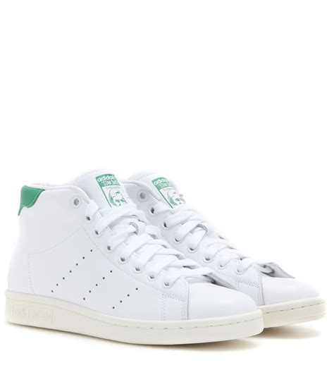 stan smith sneaker adidas stan smith mid leather high top sneakers in white