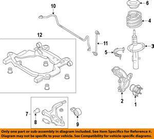ford oem 10 12 taurus front suspension strut ag1z18124g ebay
