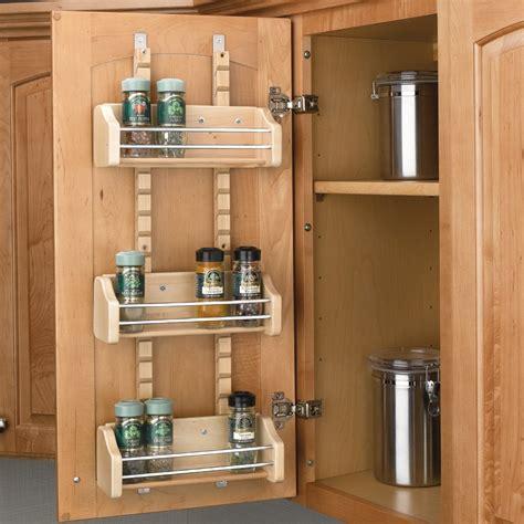 Spice Rack Cabinet Mount by Rev A Shelf Adjustable Door Mt Spice Rack 18 Quot Wood 4asr 18