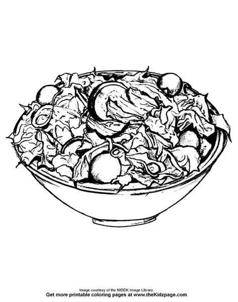 salad bowl coloring page free fruit salad coloring pages