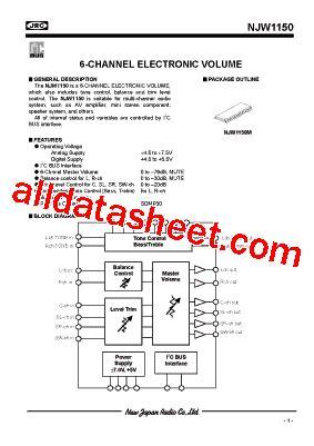 transistor njw njw1150 データシート pdf new japan radio