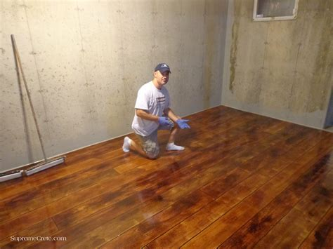Concrete Wood Basement Floor & Staining   Lima OH   Home