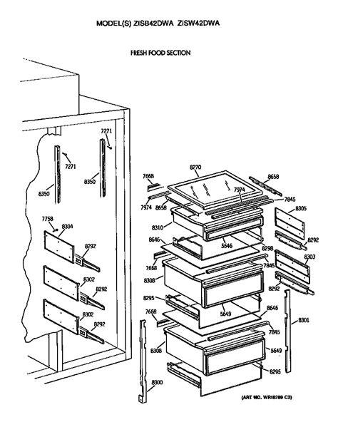 refrigerator diagram refrigerator parts ge refrigerator parts diagram monogram