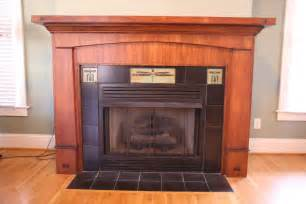 made custom craftsman style fireplace mantle and