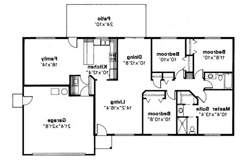 House Plans 2017 | 4 bedroom open floor plan also ranch plans for bath 2017