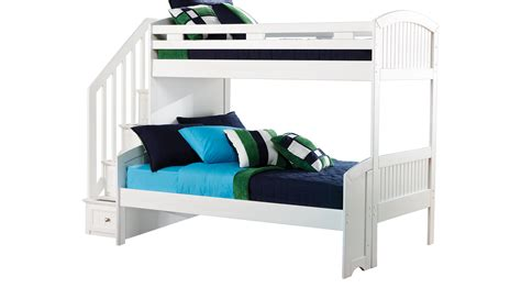 white twin bunk beds cottage colors white twin full step bunk bed