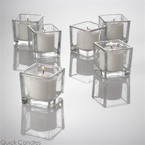 Square Glass Candle Holders by Eastland Square Votive Candle Holder Set Of 144