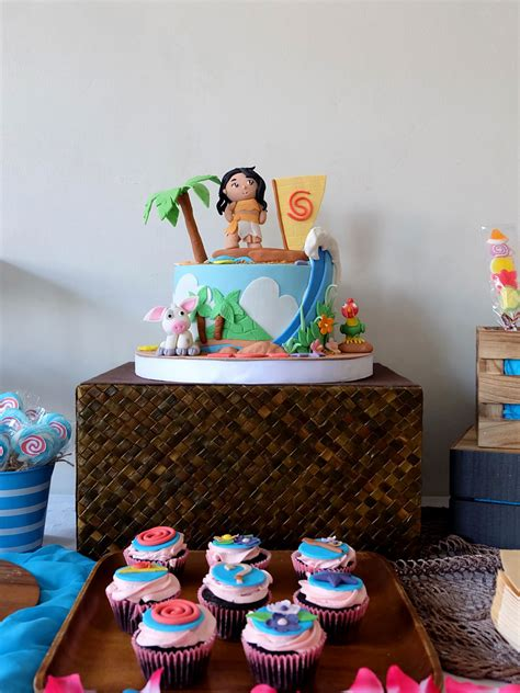 zoes moana birthday party  crafted lifestyle