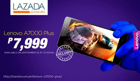 Hp Lenovo A7000 Plus Lazada exclusive deal lenovo a7000 plus available now at lazada