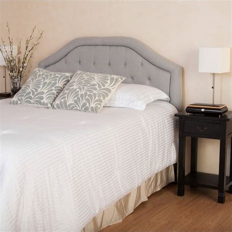 gray headboard full trent home rafael adjustable queen full tufted panal
