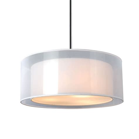 20 inch drum l shade phoenix 20 inch pendant light white organza linen