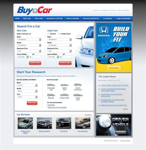 Car Dealer Website Template 27293 Find Website Template