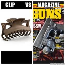 Clip Meme - clip vs magazine