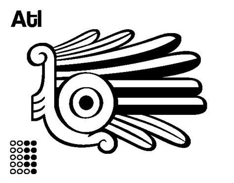 imagenes aztecas para descargar dibujo de los d 237 as aztecas el agua atl para colorear