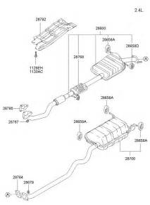 Hyundai Exhaust System Parts 2002 Hyundai Santa Fe Exhaust Pipe